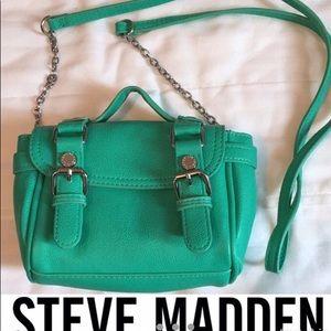 Steve Madden light green crossbody purse